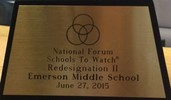 National Forum School To Watch Redesignation Two Emerson Middle School June 27 2015