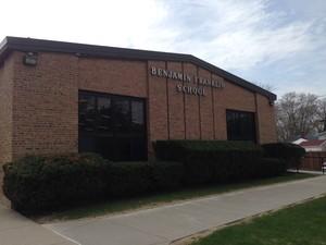 Front of Benjamin Franklin Elementary School building
