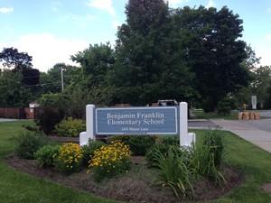Sign for Benjamin Franklin Elementary School