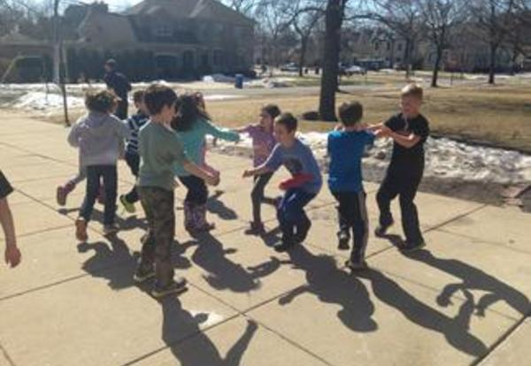 2nd Graders Study Folk Dancing In Music Class