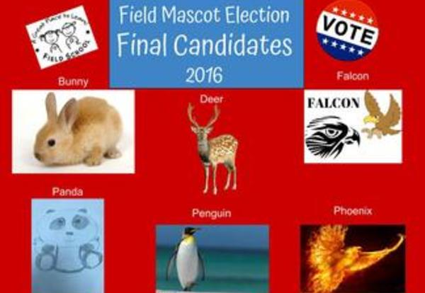 Field School Mascot Election-the final candidates are revealed!
