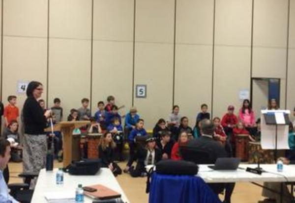 Drum Club and Ukulele Club Perform at the Board Meeting (revised)
