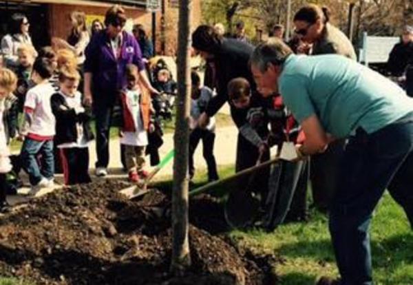 Washington School Honored Arbor Day on April 24, 2015