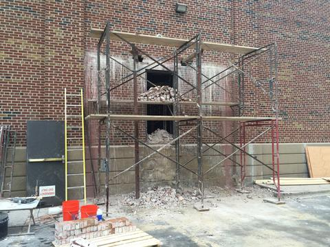 Exterior scaffolding