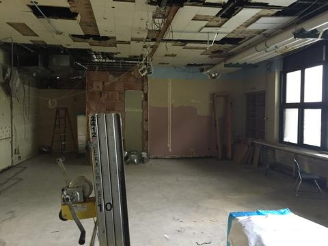 Classroom stripped down