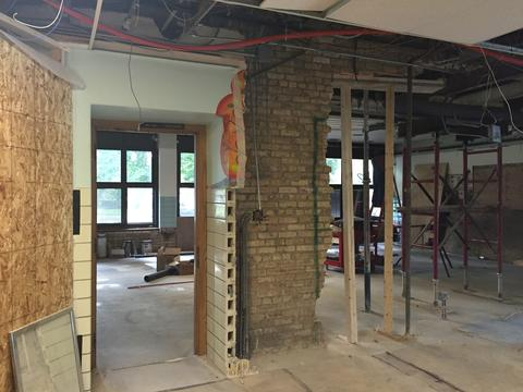 Brick walls dismantled