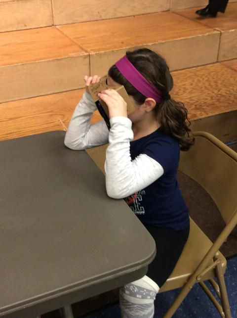 Student on a Google Expedition