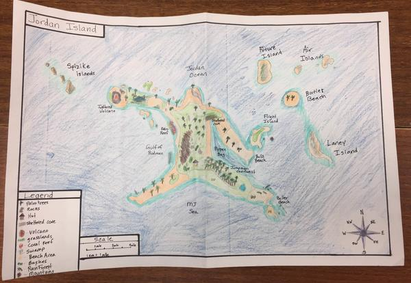 Island Map Project Stranded Island Map Project | Emerson Middle School