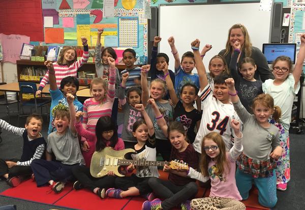 Franklin Rocks Golden Guitar Classrooms for April 2016!