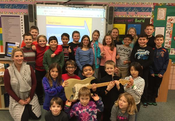 Franklin Rocks Golden Guitar Classrooms for December 2015!