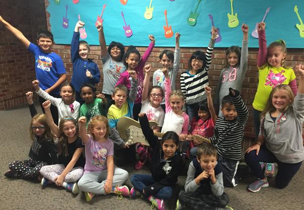 Franklin Rocks Golden Guitar Classrooms for September!