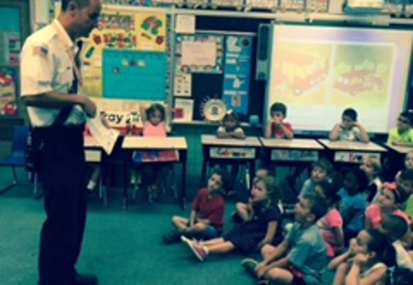 First Graders Have Special Visitors During Safety Week!