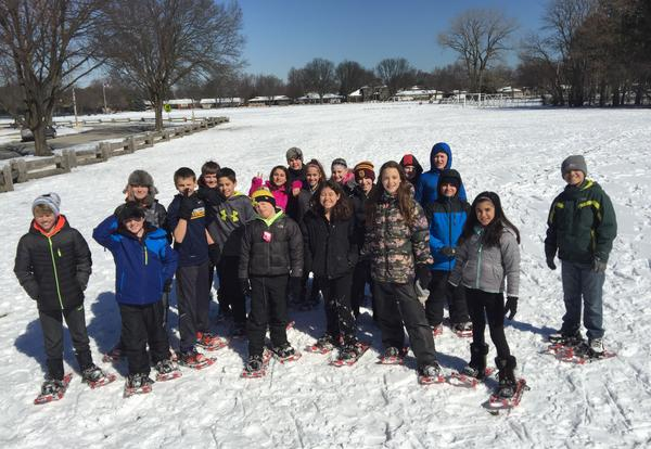 Field Students Take Advantage of a Late Snow