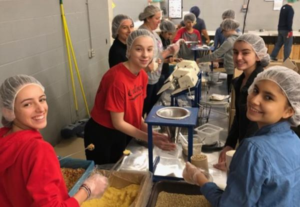 Culver School Students Volunteer to 'Lift Up Those in Need'