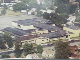 Aerial view of Scott School