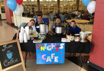 The Knights Café Opens its Doors at Grayslake North High School for Election Day