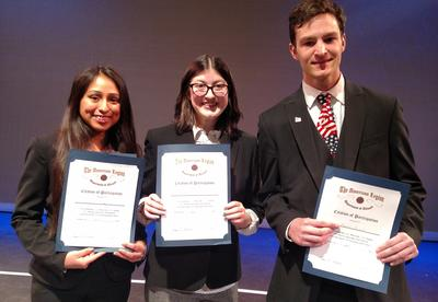 Students compete in the  American Legion Oratorical Competition