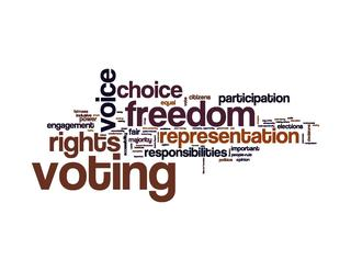 Voting freedom voice choice participation