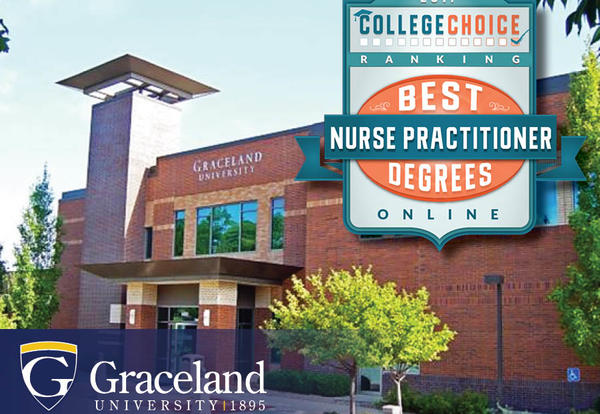 Graceland University 1895: College Choice Ranking Best Nurse Practitioner Degrees Online badge - Independence Campus