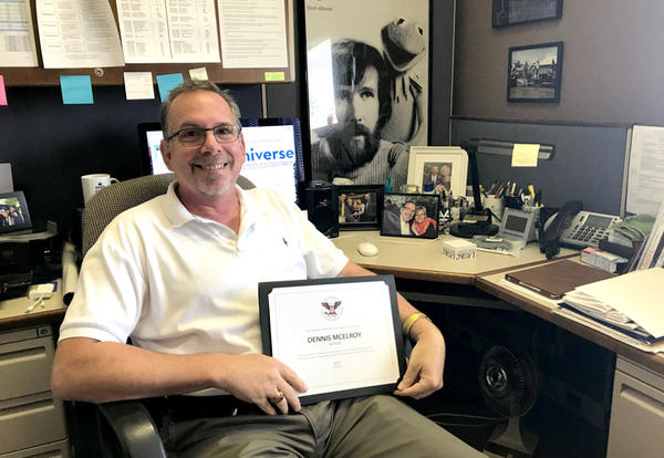 Dennis McElroy Receives President's Volunteer Service Award