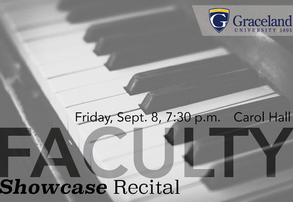 Music poster: Friday, Sept. 8, 7:30 p.m., Carol Hall, Faculty Showcase Recital