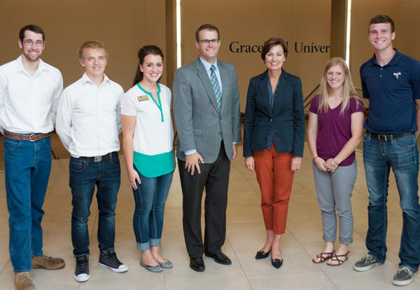 Iowa Governor Kim Reynolds Visits Graceland University