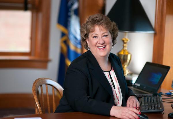 President Pat Draves in her office