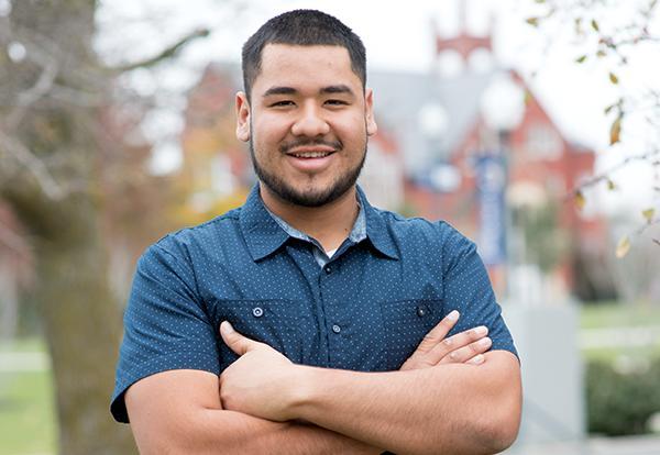 Graceland agricultural business student Omar Navarro