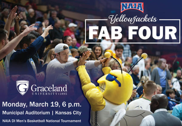 NAIA Yellowjackets Fab Four, Monday, March 19, 6:00 p.m., Municipal Auditorium, Kansas City: NAIA DI Men's Basketball National Tournament
