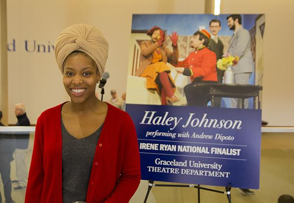 Graceland theatre student Haley Johnson `19