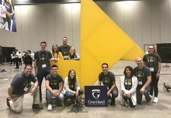 The 2018 Graceland Enactus team.