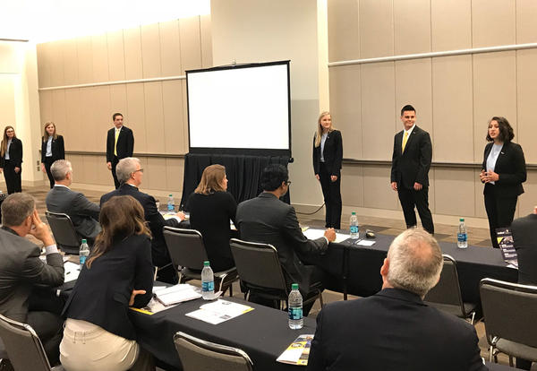 Graceland Enactus team presents in Kansas City in the 2018 National Competition