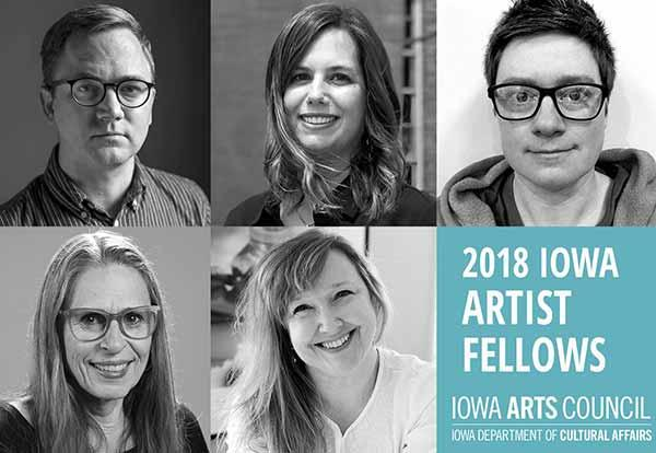 Julia Franklin, two male and two female art fellows: 2018 Iowa Artist Fellows. Iowa Arts Council. Iowa Department of Cultural Affairs
