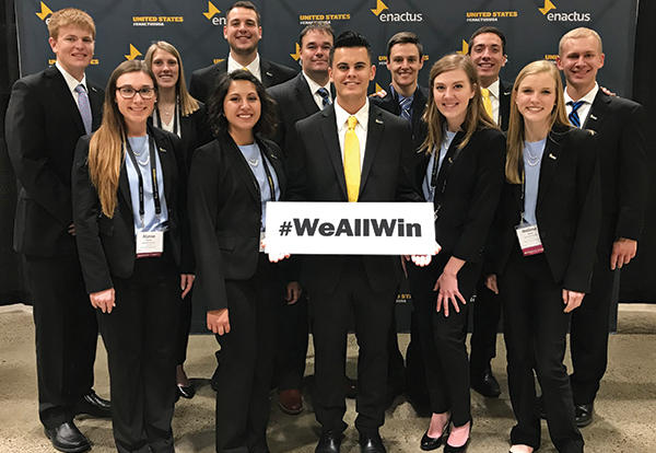 Enactus competition team at Nationals