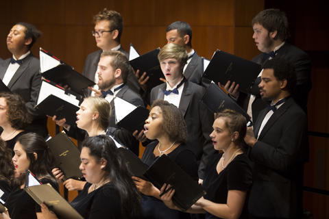 Concert Choir singing