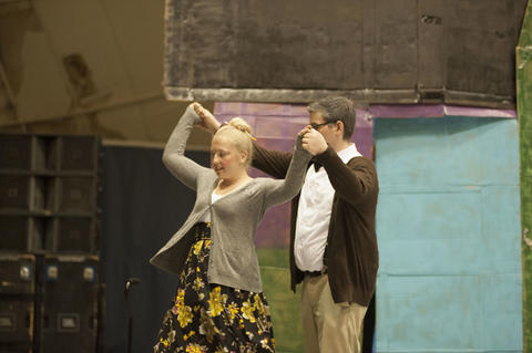 Mr. and Mrs. Fredrickson dancing