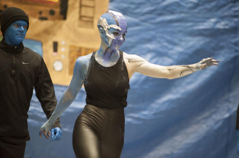 Nebula dancing around