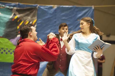 Gaston begging to Belle