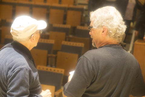 Jack talking with Alumni
