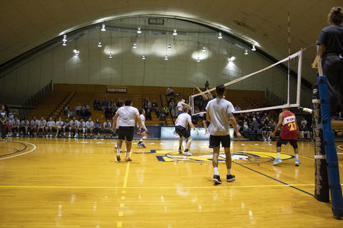 Annual Graceland University Alumni vs student volleyball game.