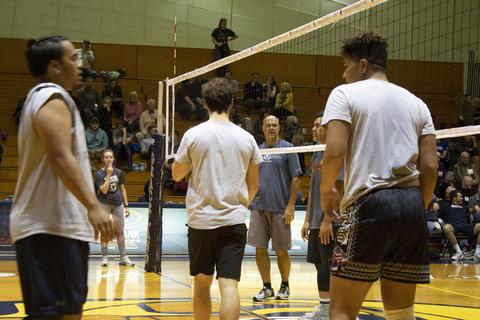 Alumni vs Student annual Men's Volleyball