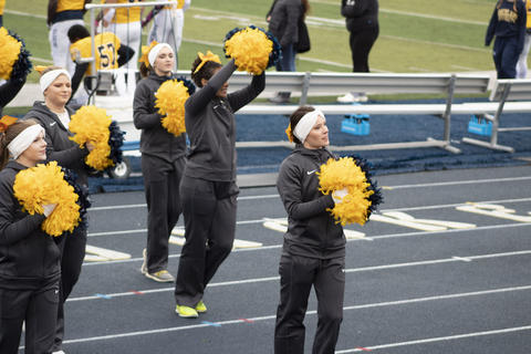 Cheer squad showing spirit
