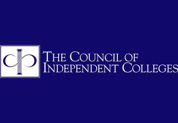 The Council of Independent Colleges logo in navy and white