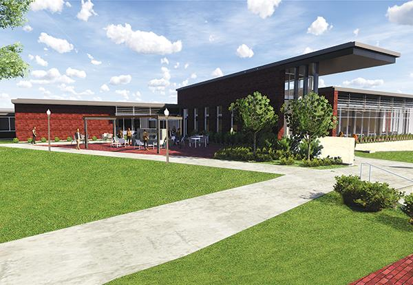 Color rendering of the new Newcom Student Union
