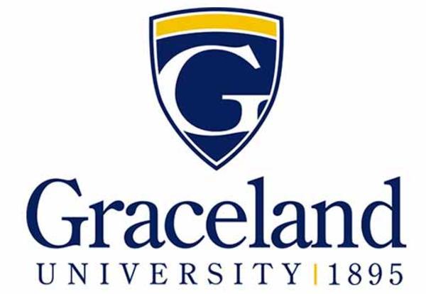 Graceland University 1895 with shield