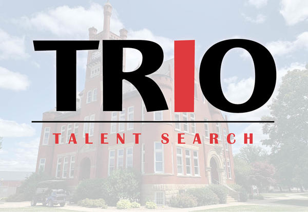 TRIO Educational Talent Search logo and the Graceland University Higdon Administration Building