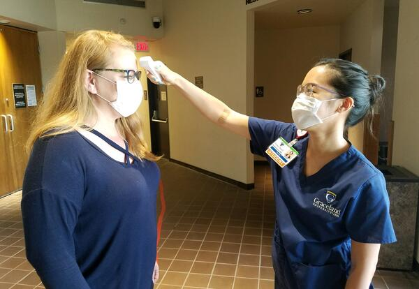 Graceland Nursing Student Tests a City of Independence Worker for COVID-19