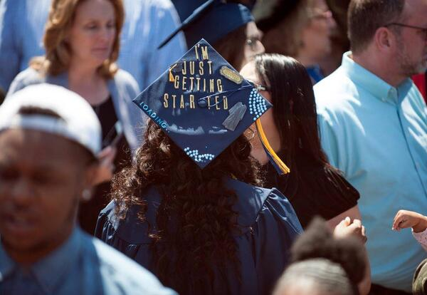 Graceland Graduate at Commencement Ceremony