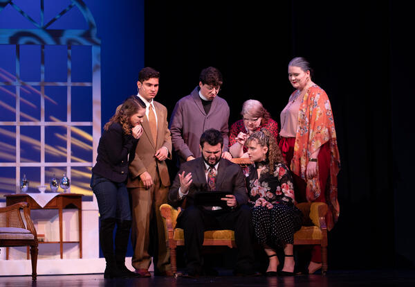 Graceland students perform a modern production of Oscar Wilde's The Importance of Being Earnest
