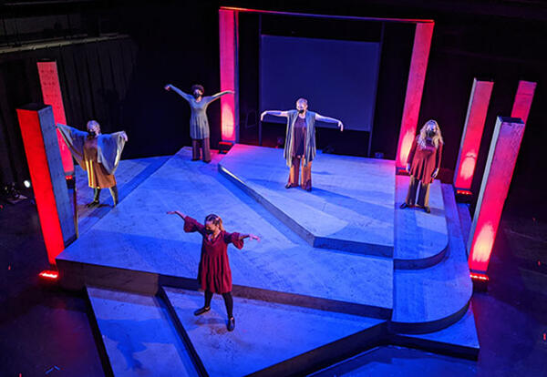 Graceland students perform a modern production of Sophocles' Antigone